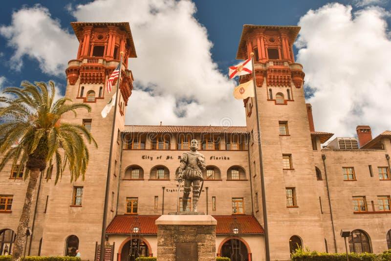 Il museo di Lightner è alloggiato nel precedente hotel di alcazar costruito nel 1888 da Henry Flagler immagini stock libere da diritti