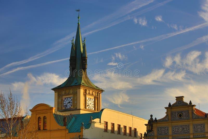 Il museo di Smetana (Muzeum Bed?icha Smetany), vecchie costruzioni, Moldau, Città Vecchia, Praga, repubblica Ceca fotografia stock