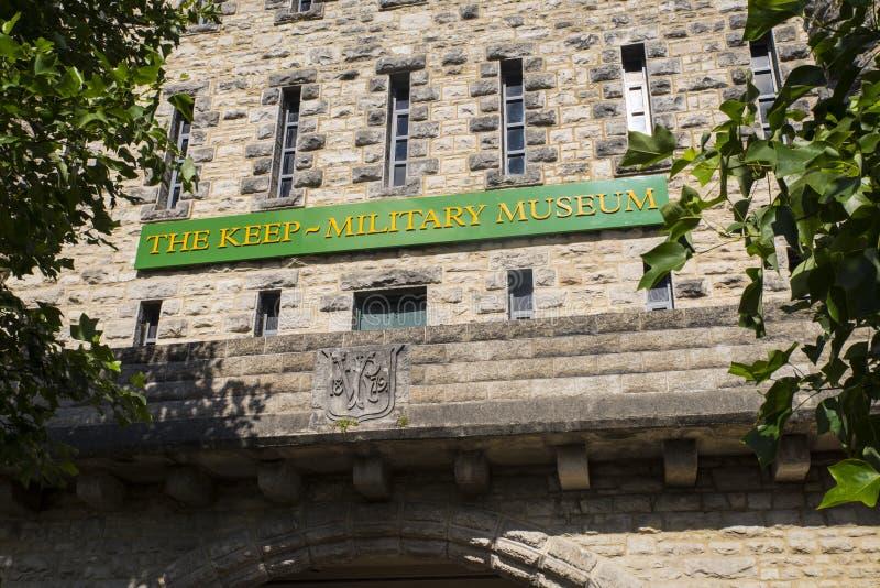 Il museo militare di conservazione a Dorchester immagine stock
