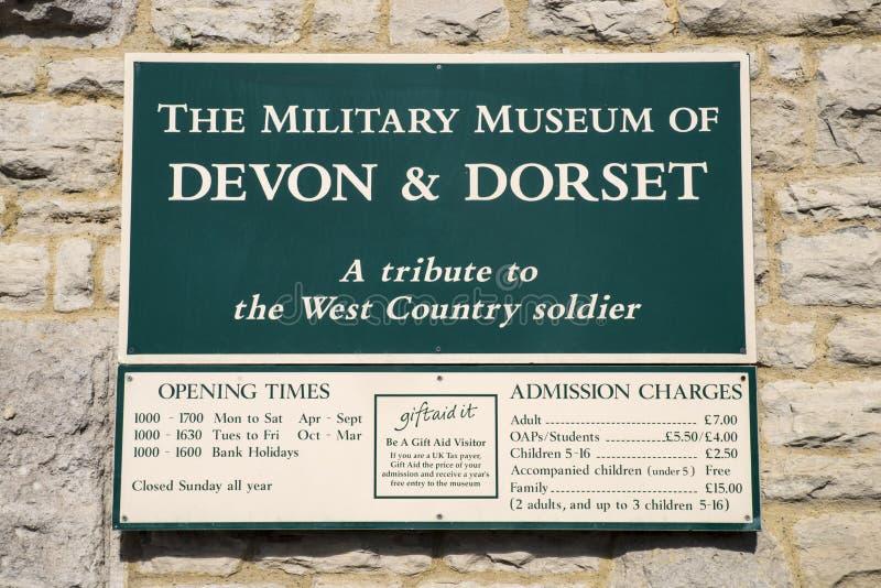 Il museo militare di Devon e di Dorset fotografia stock