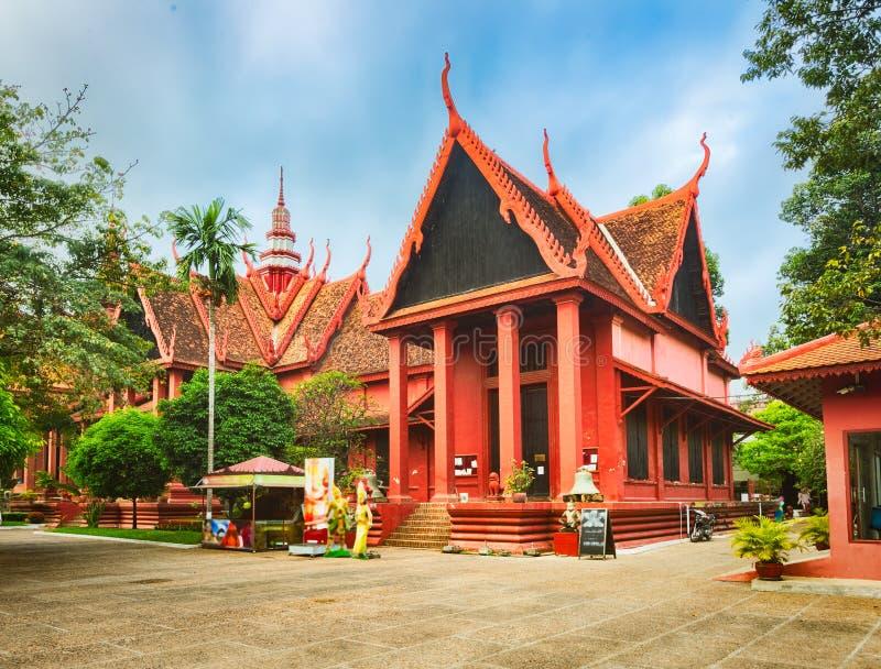 Il museo nazionale della Cambogia Phnom Penh fotografie stock libere da diritti