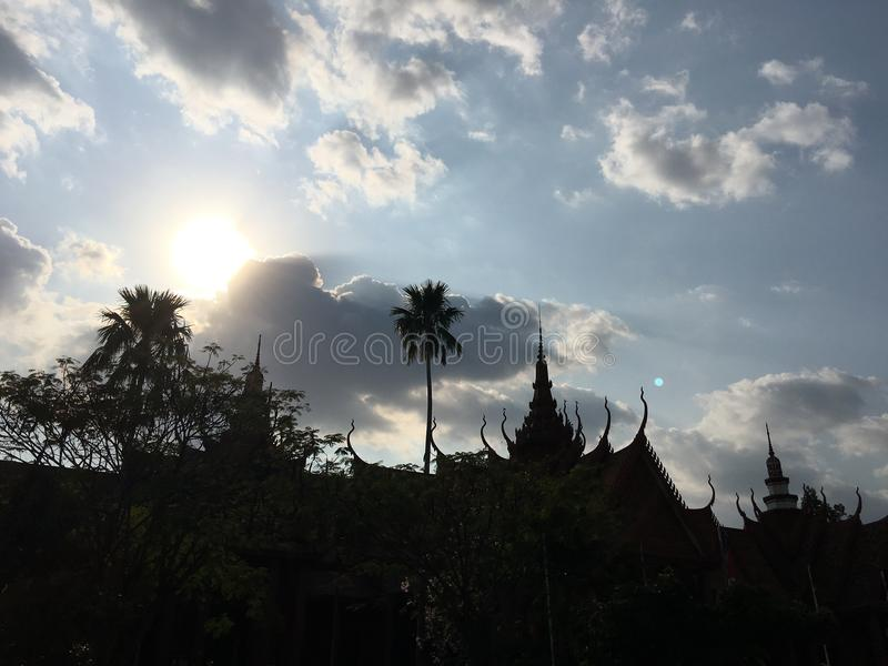 Il museo nazionale della Cambogia in Phnom Penh fotografia stock libera da diritti