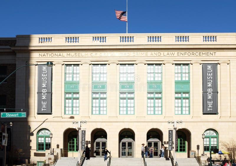 Il Museo Nazionale della Criminalità Organizzata e dell'Applicazione della Legge, noto anche come Museo della Mob fotografia stock libera da diritti