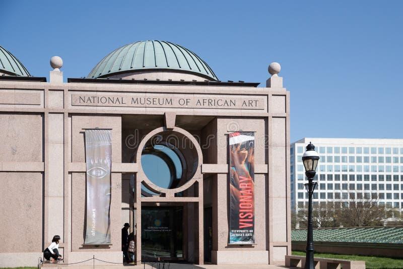 Il museo nazionale di arte africana è un museo di arte africano situato in Washington, in DC ed in uno di diciannove sotto la pro fotografia stock libera da diritti