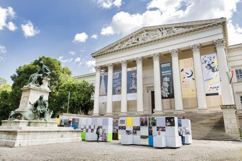 Il museo nazionale ungherese, Budapest, Ungheria immagine stock libera da diritti