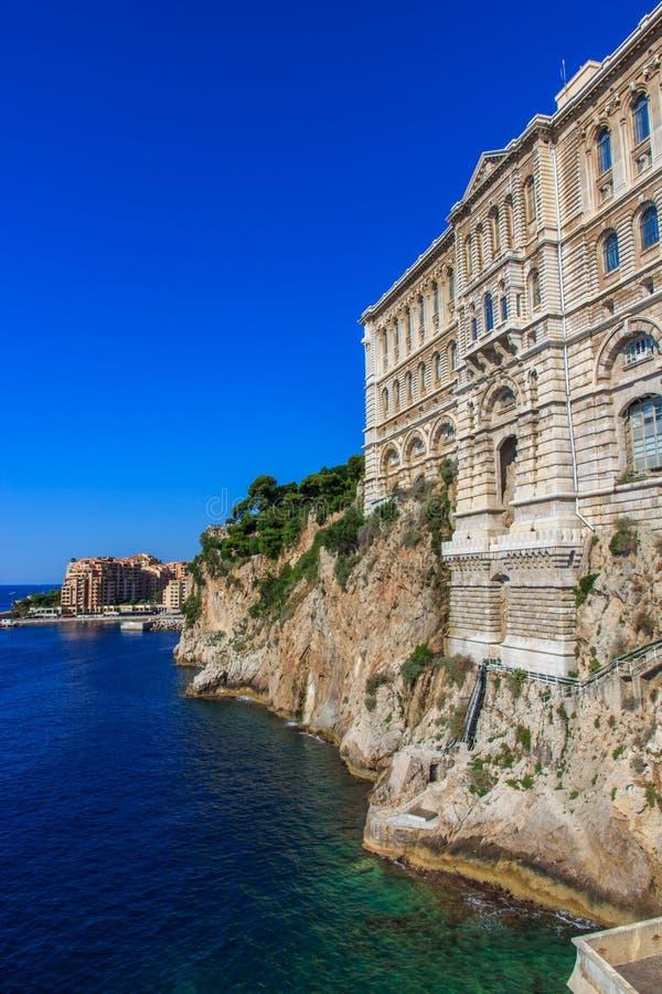 Il Museo Oceanografico Nel Monaco-Ville, Monaco, Cote D Azur Fotografia Stock Libera da Diritti