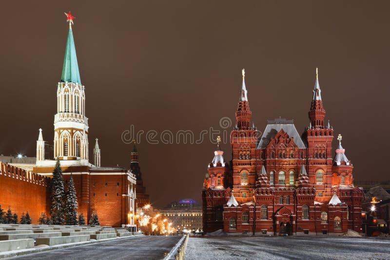 Il museo storico sul quadrato rosso, Mosca fotografie stock