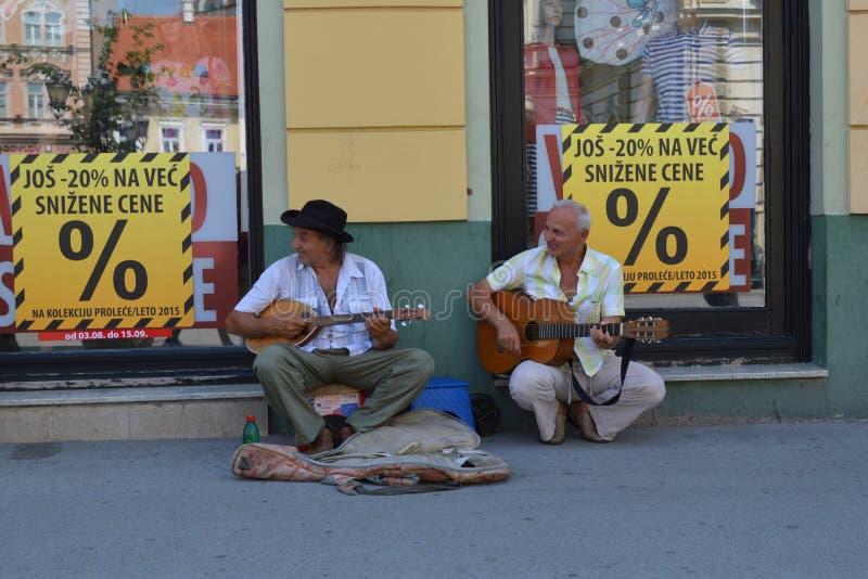 Il musicista della via fotografie stock libere da diritti