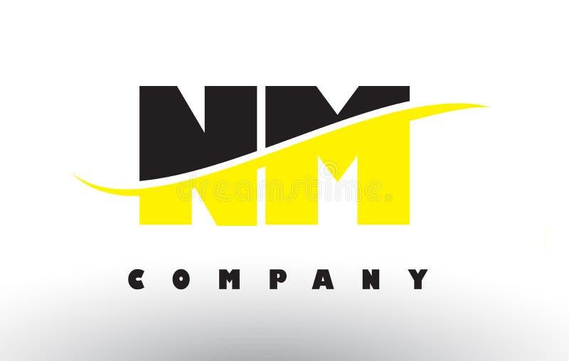 Il nanometro N m. Black e logo giallo della lettera con mormora royalty illustrazione gratis