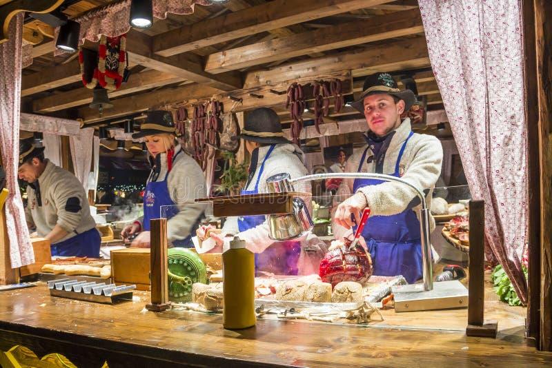Il Natale commercializza a Amburgo, Germania immagini stock libere da diritti