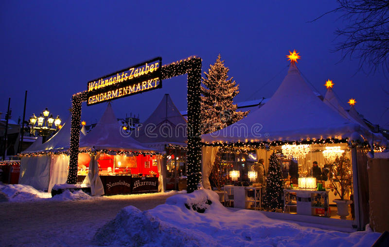 Il Natale commercializza a Berlino immagine stock
