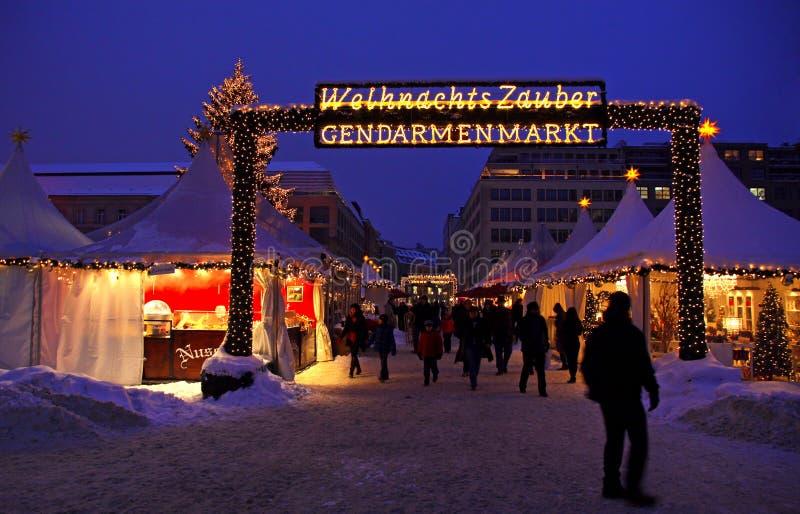 Il Natale commercializza a Berlino immagine stock libera da diritti