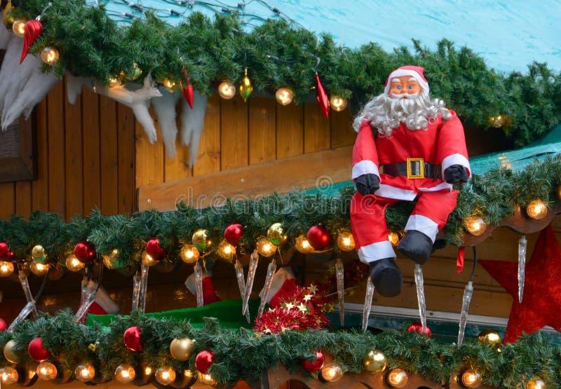 Il Natale commercializza, decorazione immagine stock