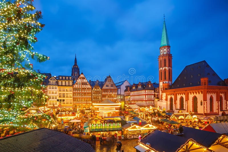 Il Natale commercializza a Francoforte fotografie stock