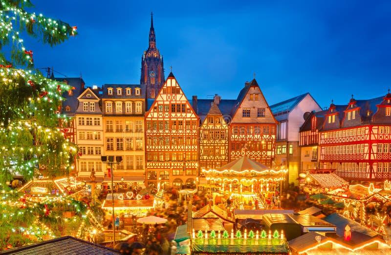 Il Natale commercializza a Francoforte immagini stock