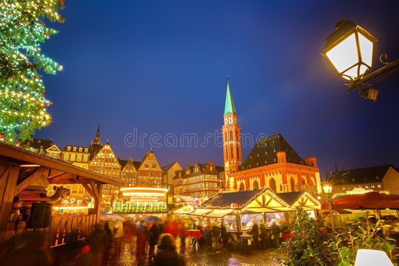 Il Natale commercializza a Francoforte fotografie stock libere da diritti