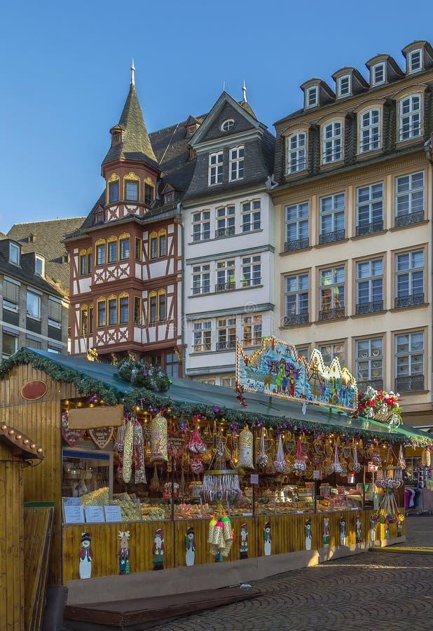 Il Natale commercializza, Francoforte fotografia stock libera da diritti