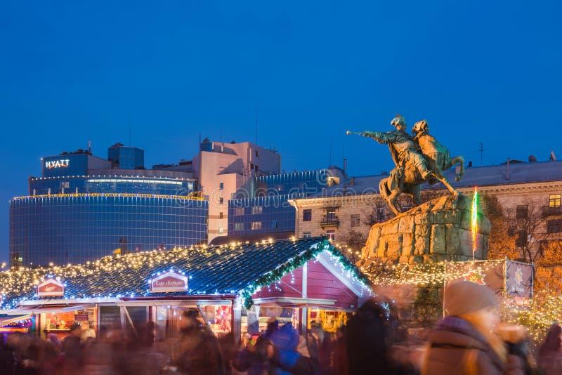 Il Natale commercializza in Kyiv, Ucraina fotografia stock