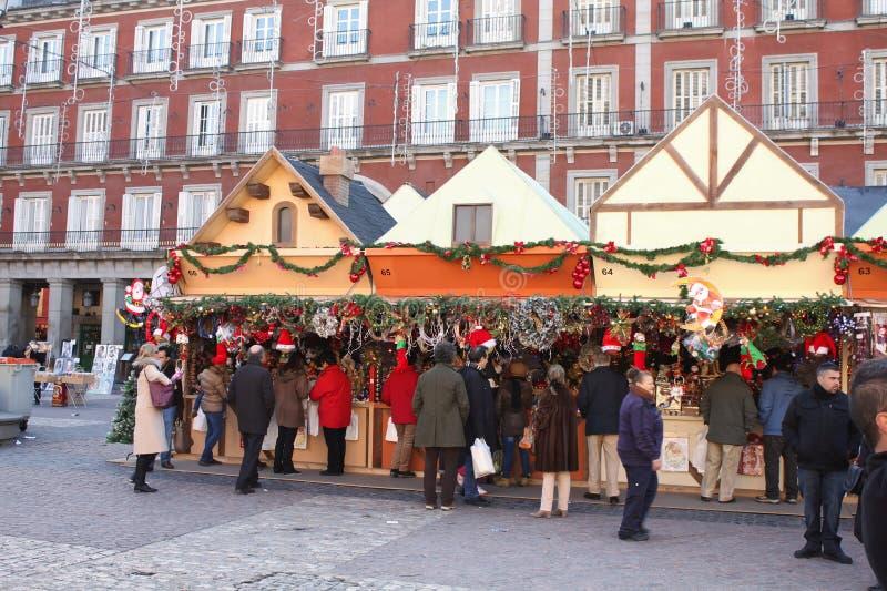 Il Natale commercializza a Madrid immagini stock