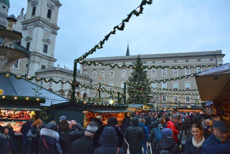 Il Natale commercializza a Salisburgo fotografia stock libera da diritti