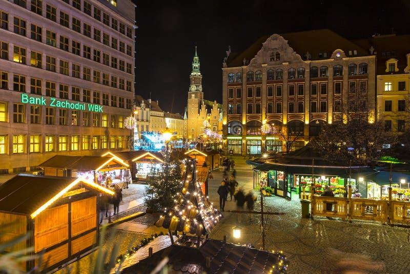 Il Natale commercializza a Wroclaw, Polonia fotografie stock libere da diritti