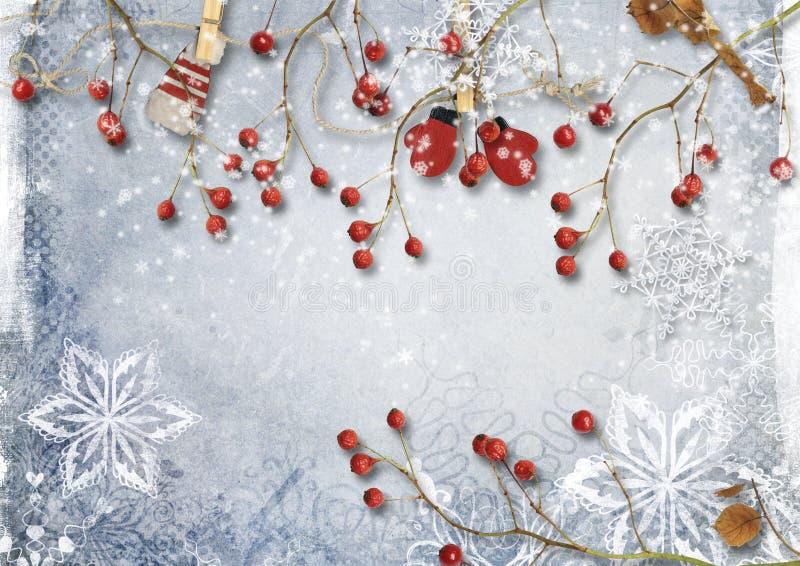 Il Natale confina con i rami dell'abete e le decorazioni dell'oro fotografie stock libere da diritti