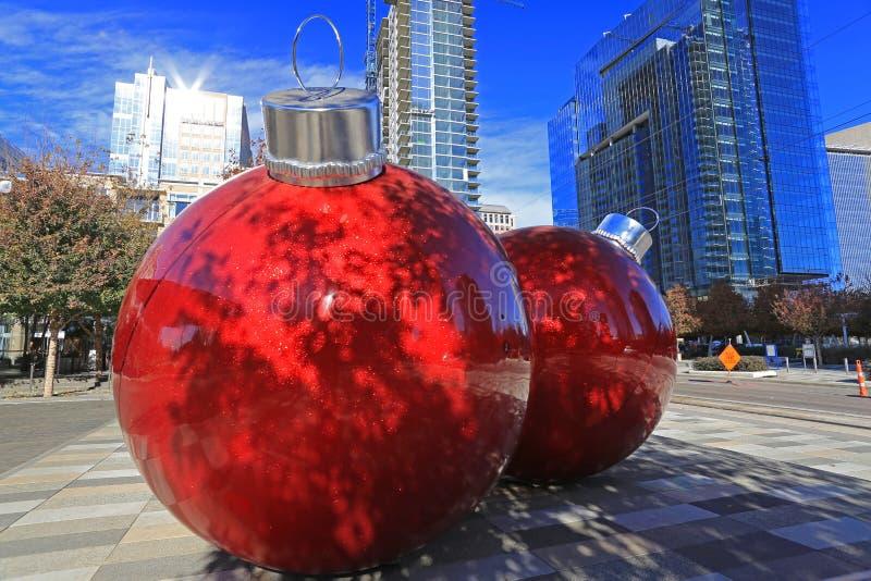 Il Natale cronometra a Dallas del centro fotografia stock