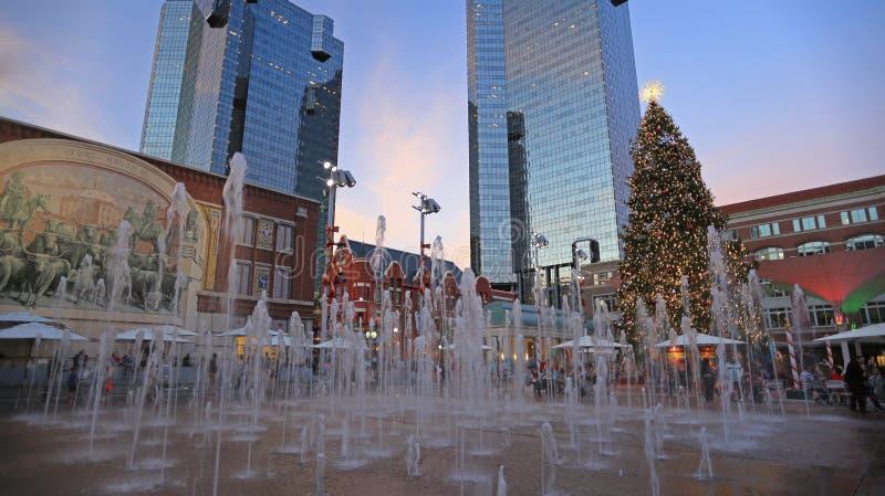 Il Natale cronometra a Fort Worth del centro immagini stock