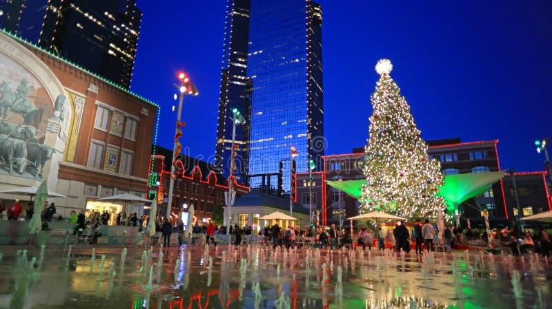 Il Natale cronometra a Fort Worth del centro fotografia stock