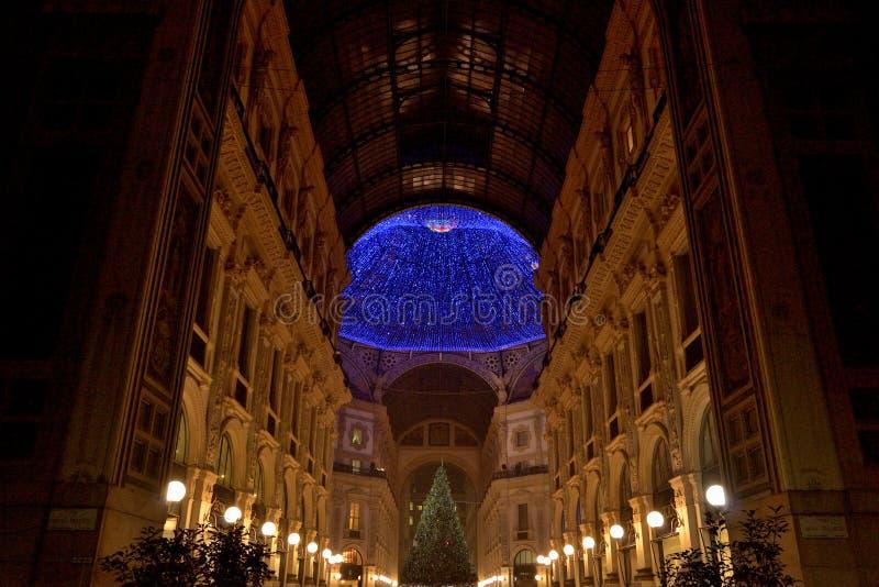 Il Natale cronometra a Milano fotografia stock