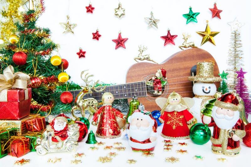 Il Natale del contenitore e del pupazzo di neve di regalo di Santa gioca la decorazione o nuovo anno immagini stock libere da diritti