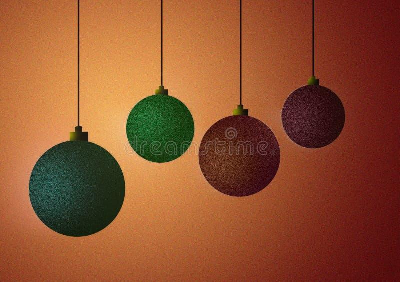 Il Natale delle palle dell'ornamento progetta la carta da parati del fondo royalty illustrazione gratis