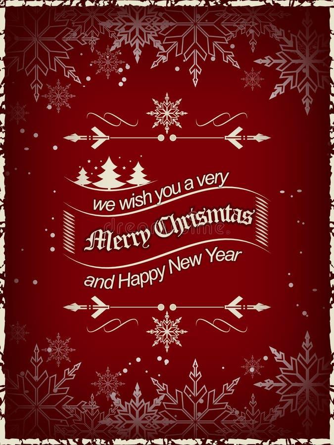 Il Natale desidera il fondo, progettazione per la vostra cartolina d'auguri illustrazione vettoriale