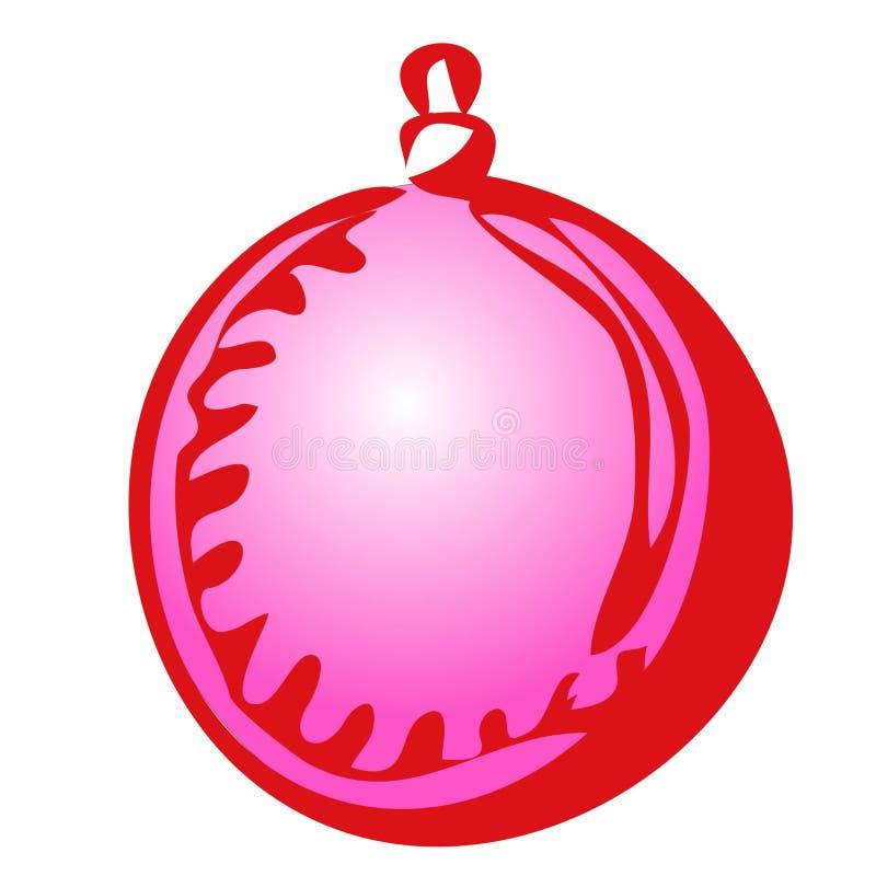 Il Natale di tiraggio della mano isolato vettore gioca la sfera su un fondo bianco royalty illustrazione gratis