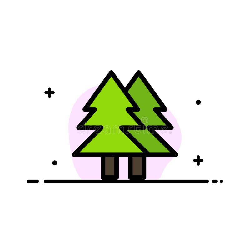 Il Natale, Eco, ambiente, linea piana di affari verdi e allegri ha riempito il modello dell'insegna di vettore dell'icona illustrazione di stock