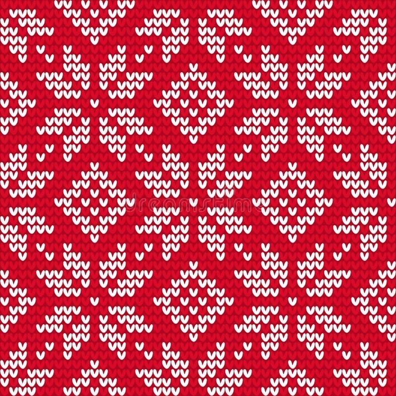 Il Natale ha tricottato il modello senza cuciture illustrazione vettoriale