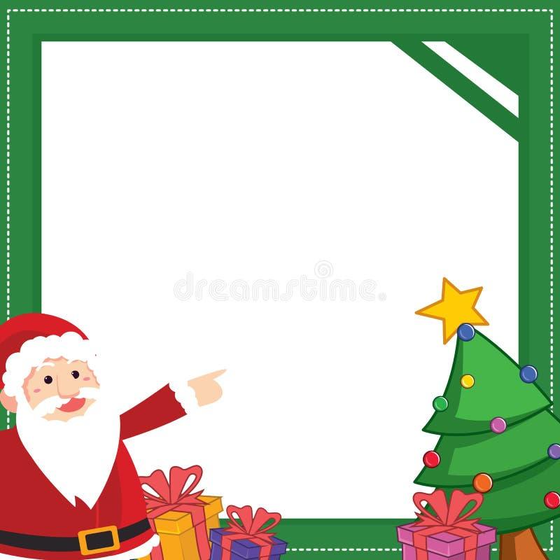 Il Natale incornicia con progettazione del regalo illustrazione di stock