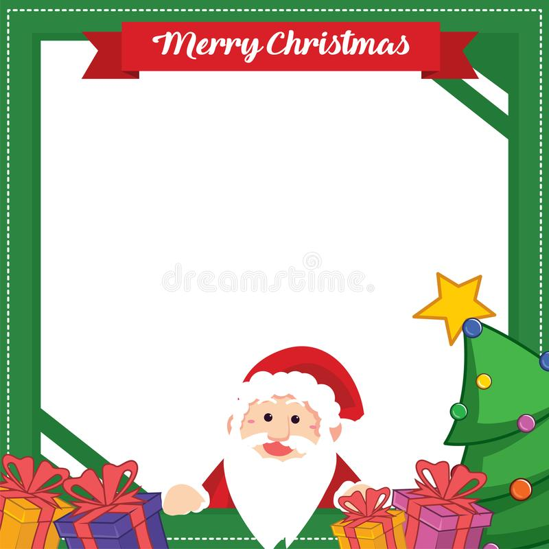 Il Natale incornicia con progettazione del regalo royalty illustrazione gratis