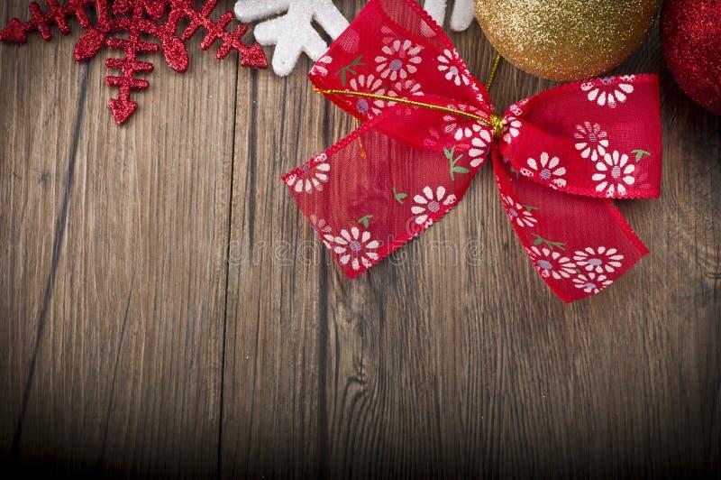 Il Natale incornicia sulla tavola di legno fotografia stock