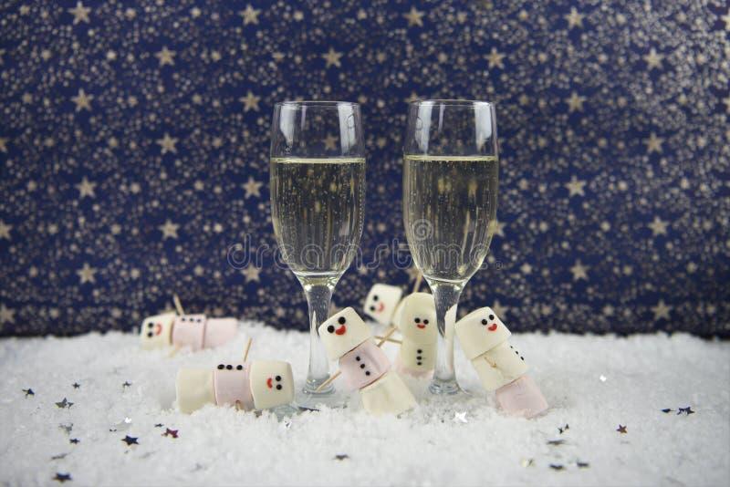 Il Natale o immagine di fotografia dell'alimento e della bevanda del nuovo anno facendo uso delle caramelle gommosa e molle hanno fotografie stock