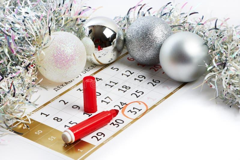 Il Natale regista e prepara per il nuovo anno il vostro testo fotografia stock