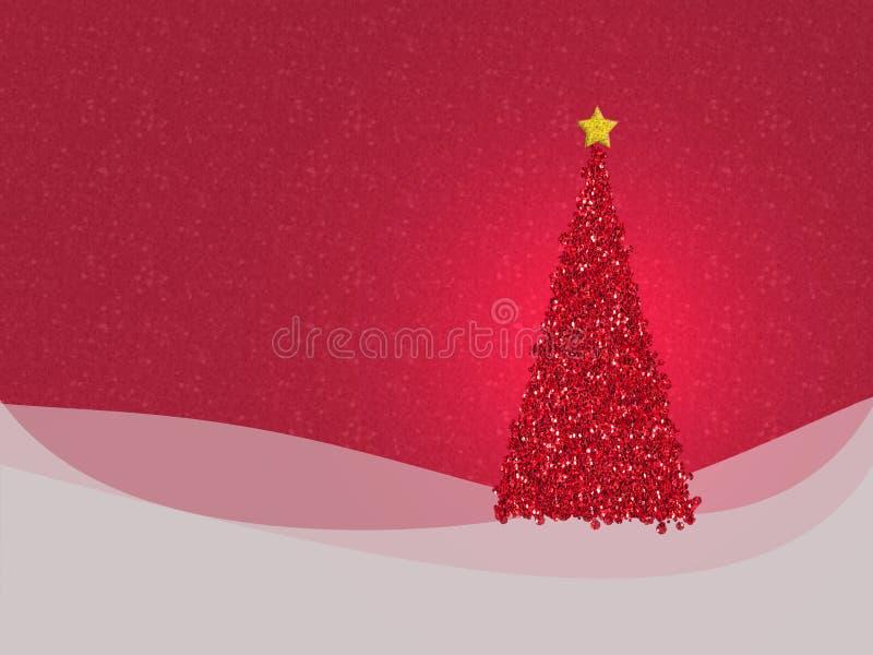 Il Natale rosso luccicante progetta - con copyspace per il vostro saluto illustrazione di stock