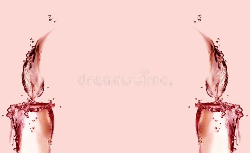 Il natale rosso orizzontale esamina in controluce il bordo fotografia stock libera da diritti