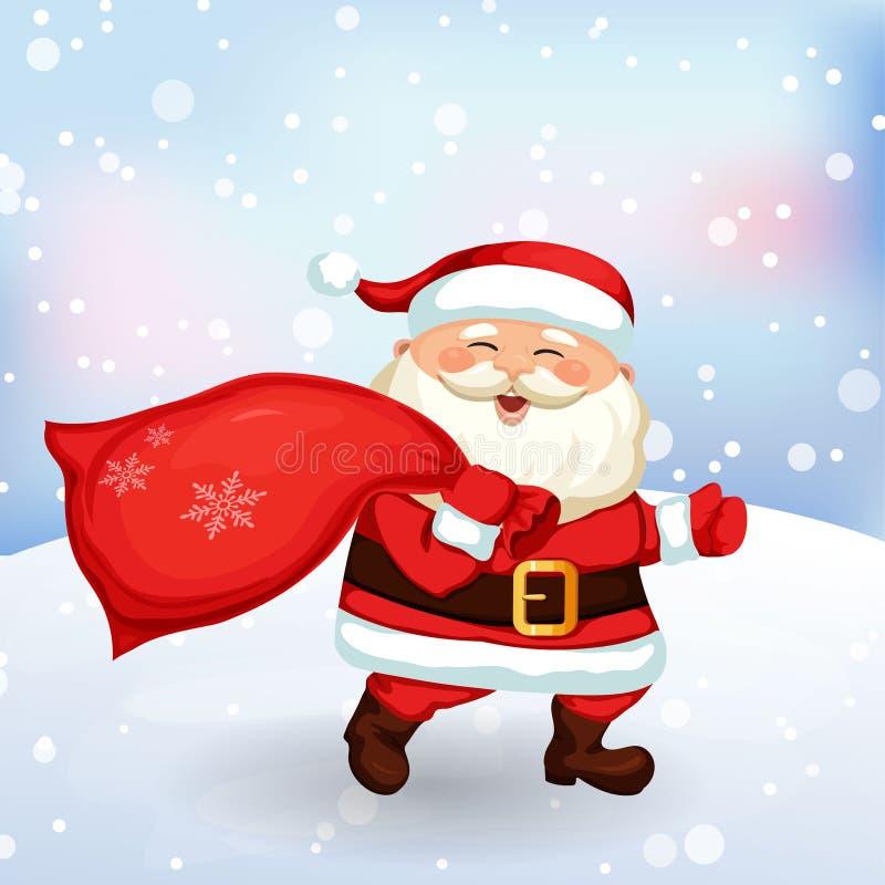 Il Natale segna a Santa Claus royalty illustrazione gratis