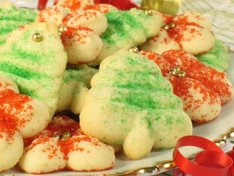Il natale Spritz i biscotti fotografia stock libera da diritti