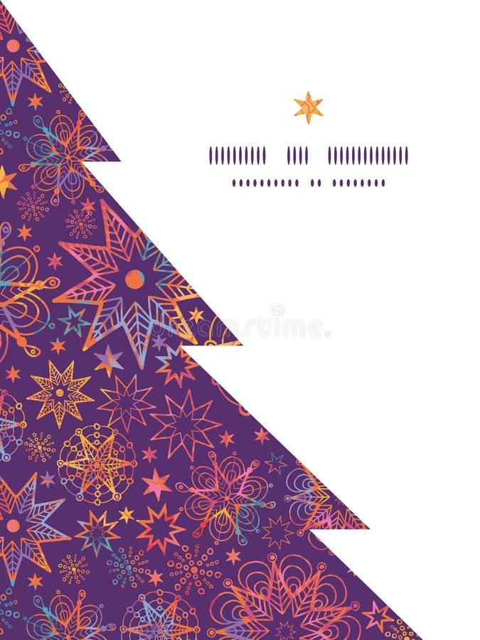 Il natale strutturato di vettore stars l'albero di Natale royalty illustrazione gratis