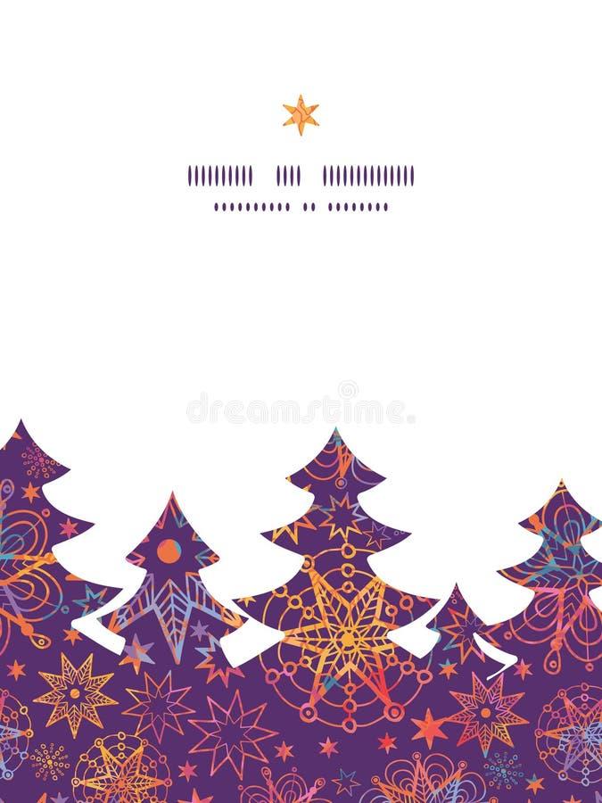 Il natale strutturato di vettore stars l'albero di Natale illustrazione vettoriale