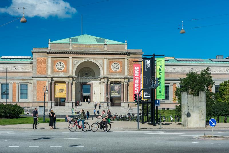Il National Gallery della Danimarca a Copenhaghen immagini stock