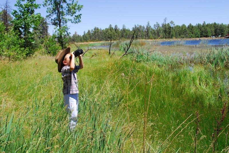 Il naturalista fotografia stock