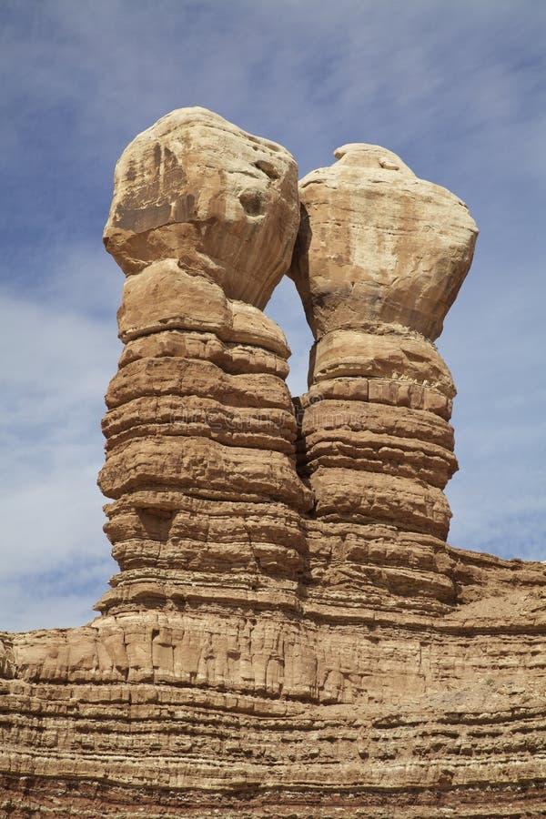 Il navajo gemella la formazione rocciosa fotografia stock libera da diritti